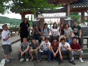 My happy co-workers from Avalon English and I at Nami Island