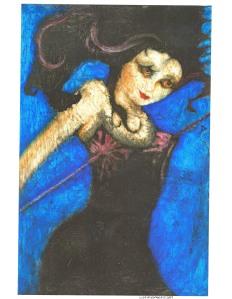 """Local Artist Lisa Albringer's painting entitled """"JD."""""""