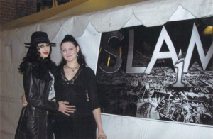 Lauren and I at the S.L.A.M. Magazine Anniversary show