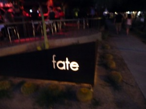 Fate's sign on 5th Street