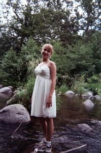 Jennica on a rock