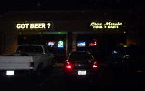 The bar from outside