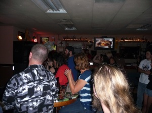 The bar packed