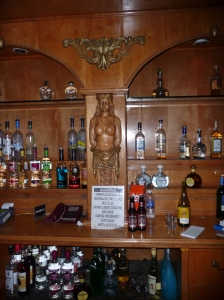 Behins the bar at Transylvnia