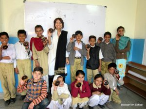 Sidra and her students