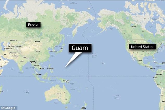 Guam location us map