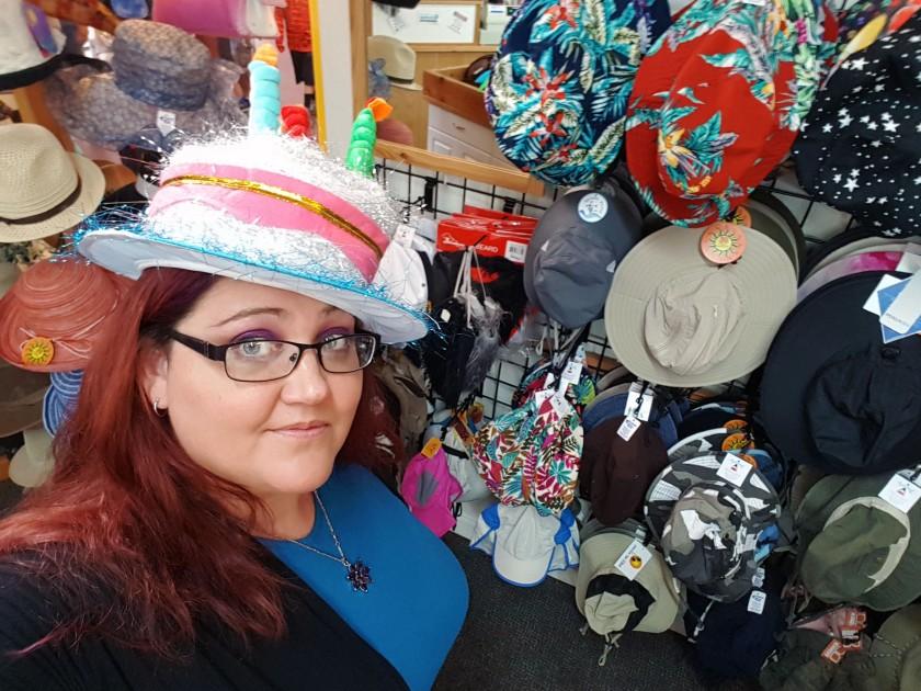 me in birthday hat