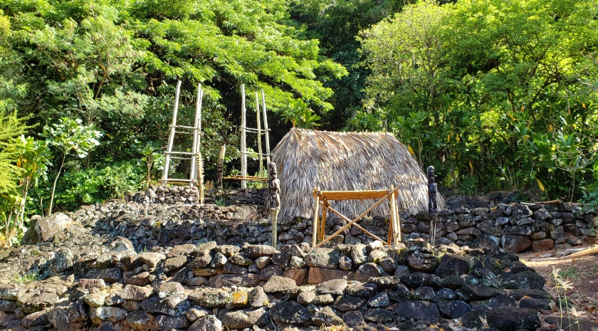 hawaiian ruins recreated