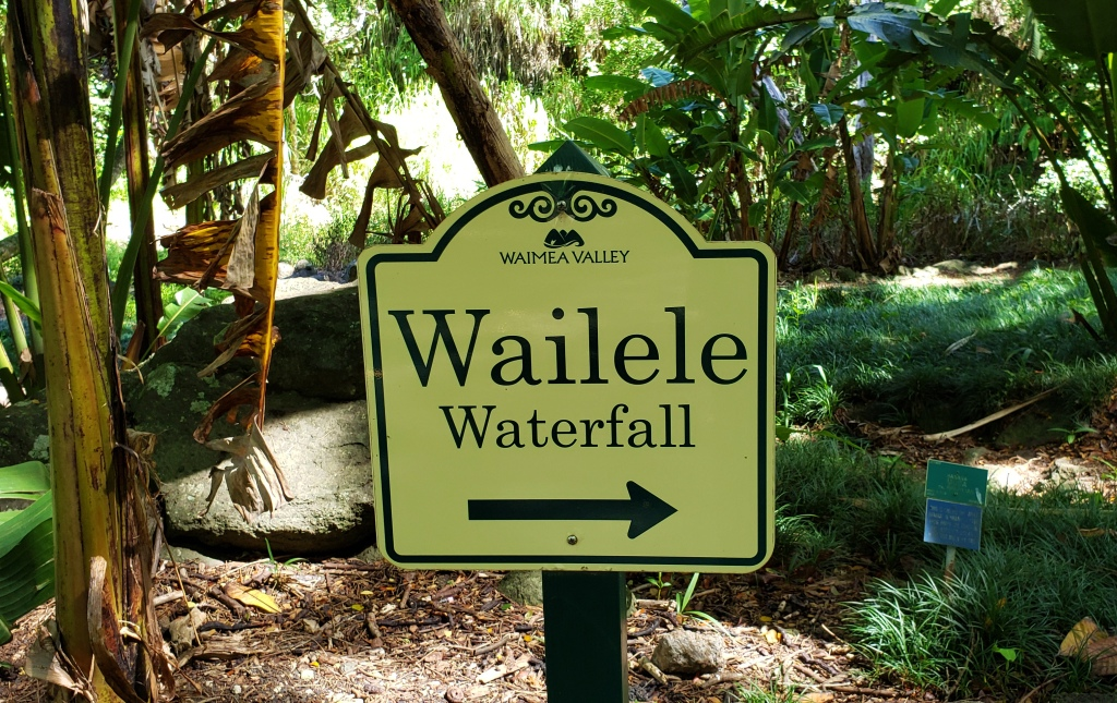 sign for waterfall